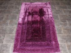Modern Approx 5x3 80x150cm Woven Backed Top Quality Sparkle Purple Rugs Shaggy